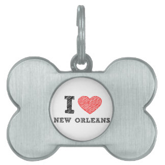 I-Love-New-Orleans Pet Name Tags