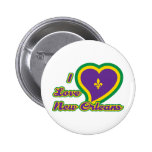 I Love New Orleans Pinback Button