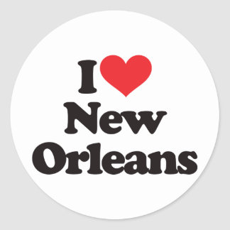 I Love New Orleans Round Stickers