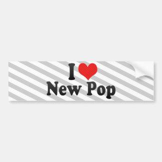 I Love New Pop Car Bumper Sticker