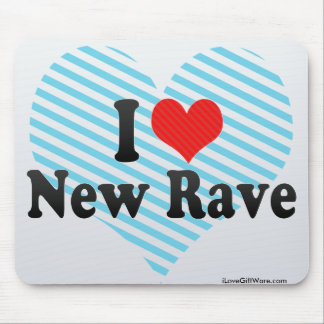 I Love New Rave Mousepads