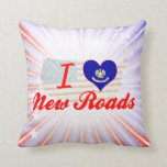 I Love New Roads, Louisiana Throw Pillow