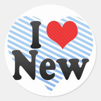 I Love New Round Sticker