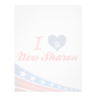 I Love New Sharon, Maine Custom Letterhead