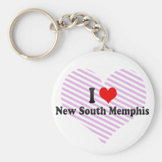 I Love New South Memphis, United States Basic Round Button Keychain