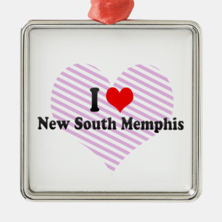 I Love New South Memphis, United States Square Metal Christmas Ornament