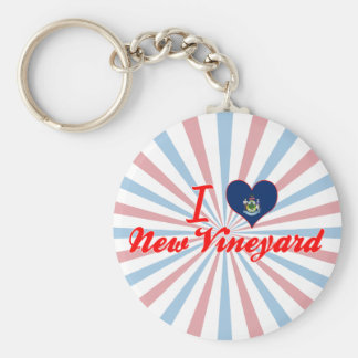 I Love New Vineyard, Maine Keychains
