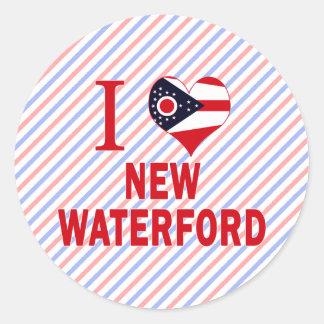I love New Waterford, Ohio Classic Round Sticker