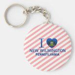 I Love New Wilmington, PA Keychains