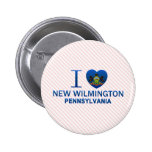 I Love New Wilmington, PA Pinback Buttons