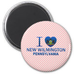 I Love New Wilmington, PA Refrigerator Magnets