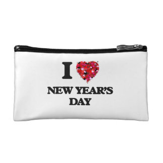 I Love New Year'S Day Cosmetics Bags