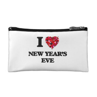 I Love New Year'S Eve Cosmetic Bags