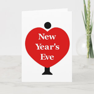 i love new years eve holiday card