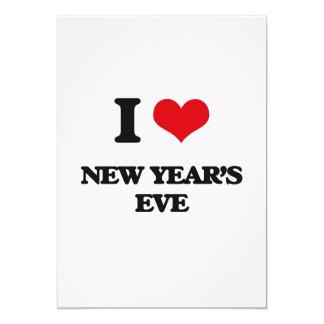 "I Love New Year'S Eve 5"" X 7"" Invitation Card"