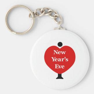 I Love New Year's Eve Keychain