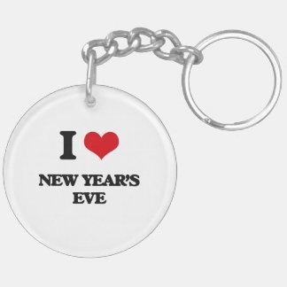 I Love New Year'S Eve Key Chain