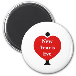 I Love New Year's Eve Refrigerator Magnets