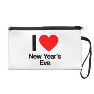 i love new year's eve wristlet clutches