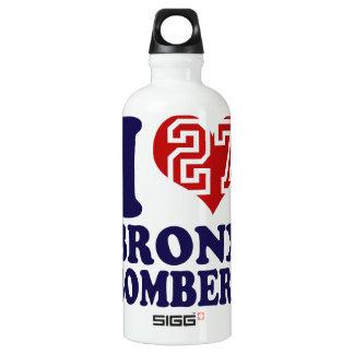 I love New York 27 Rings Bronx Bombers Water Bottle
