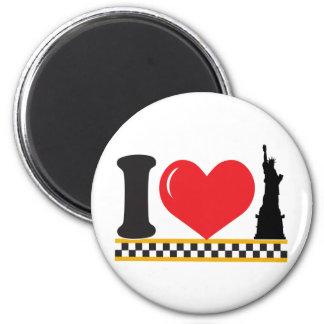 I Love New York 2 Inch Round Magnet