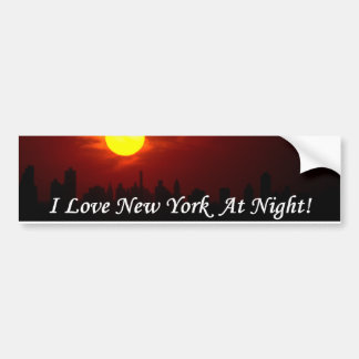 I Love New York At Night! bumper sticker Car Bumper Sticker
