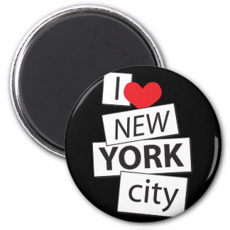 I Love New York City 2 Inch Round Magnet