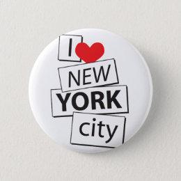 I Love New York City Button
