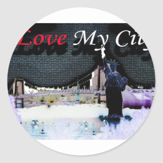 i love new york classic round sticker