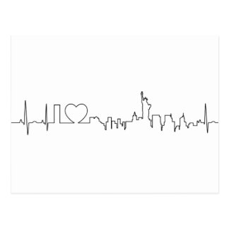 I love New York in a extraordinary style Postcard