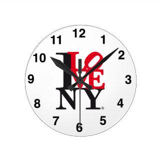 I Love New York NY O'clock L. Edition Round Clock