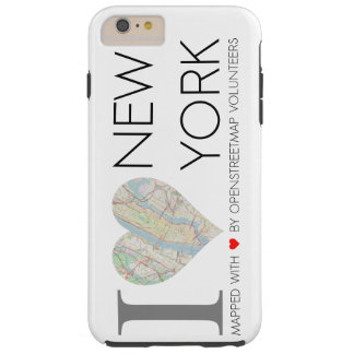I love New York. OpenStreetMap Tough iPhone 6 Plus Case