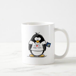 I Love New York Penguin Coffee Mug