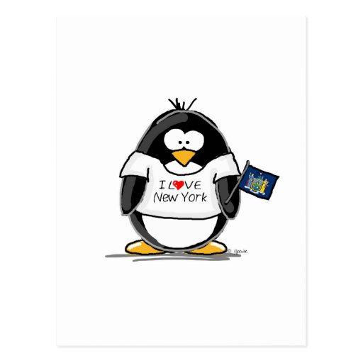 I Love New York Penguin Postcard