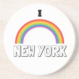 I LOVE NEW YORK SANDSTONE COASTER