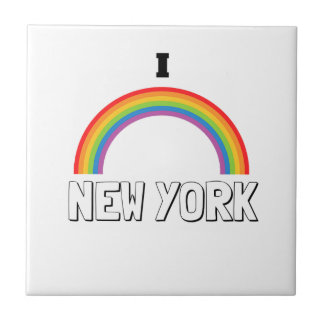 I LOVE NEW YORK SMALL SQUARE TILE