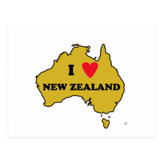 I Love New Zealand (Australia) Postcards