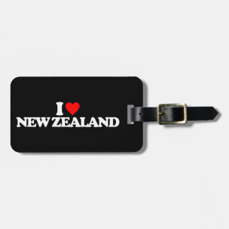 I LOVE NEW ZEALAND BAG TAG