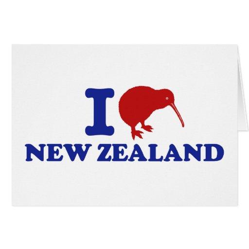 I Love New Zealand Card