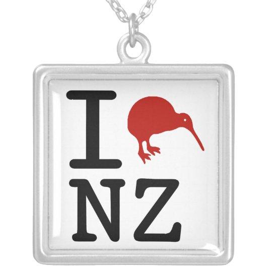 I Love New Zealand Kiwi Necklace