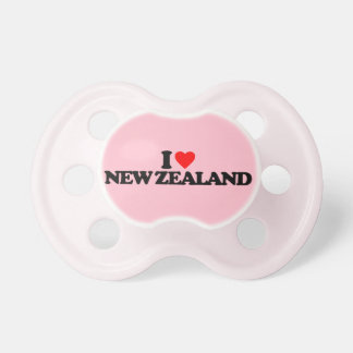 I LOVE NEW ZEALAND PACIFIERS