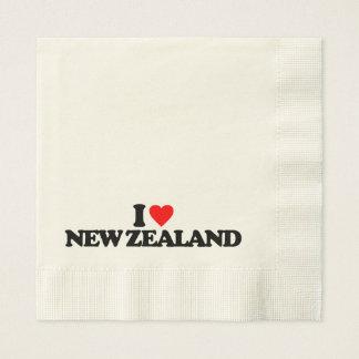I LOVE NEW ZEALAND PAPER NAPKIN