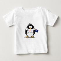 I Love New Zealand Penguin Baby T-Shirt