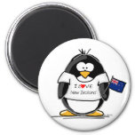 I Love New Zealand Penguin Refrigerator Magnets