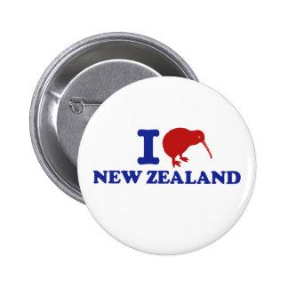 I Love New Zealand Pinback Button