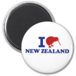 I Love New Zealand Refrigerator Magnet