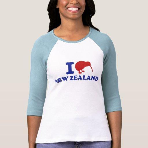 I Love New Zealand Shirts
