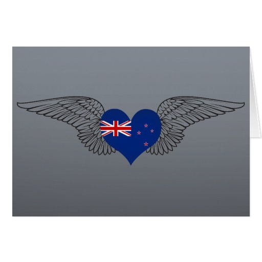 I Love New Zealand -wings Greeting Card