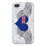 I Love New Zealand -wings iPhone 4 Cases