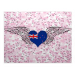 I Love New Zealand -wings Postcard